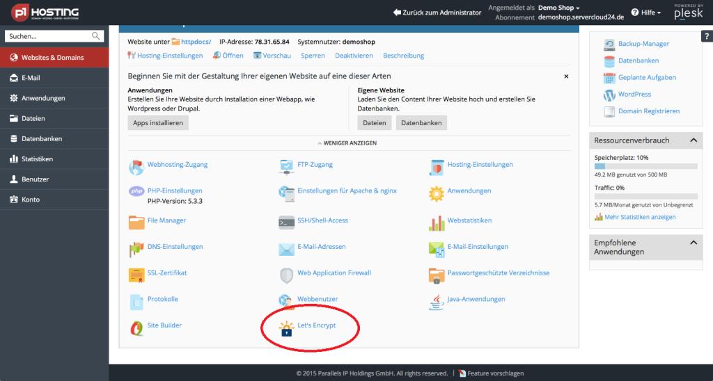 Jetzt: Gratis SSL-Zertifikat von Let\'s Encrypt bei p1Hosting.de ...